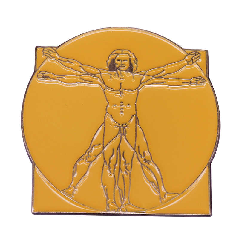 Da Vinci Vitruviano Uomo spilla grande capolavoro di arte aggiunta