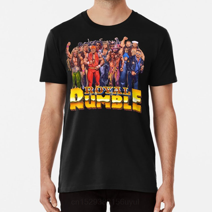 1991 Rumble! T shirt wwf wrestling 90s retro old school vintage classic rumble tv popular(China)