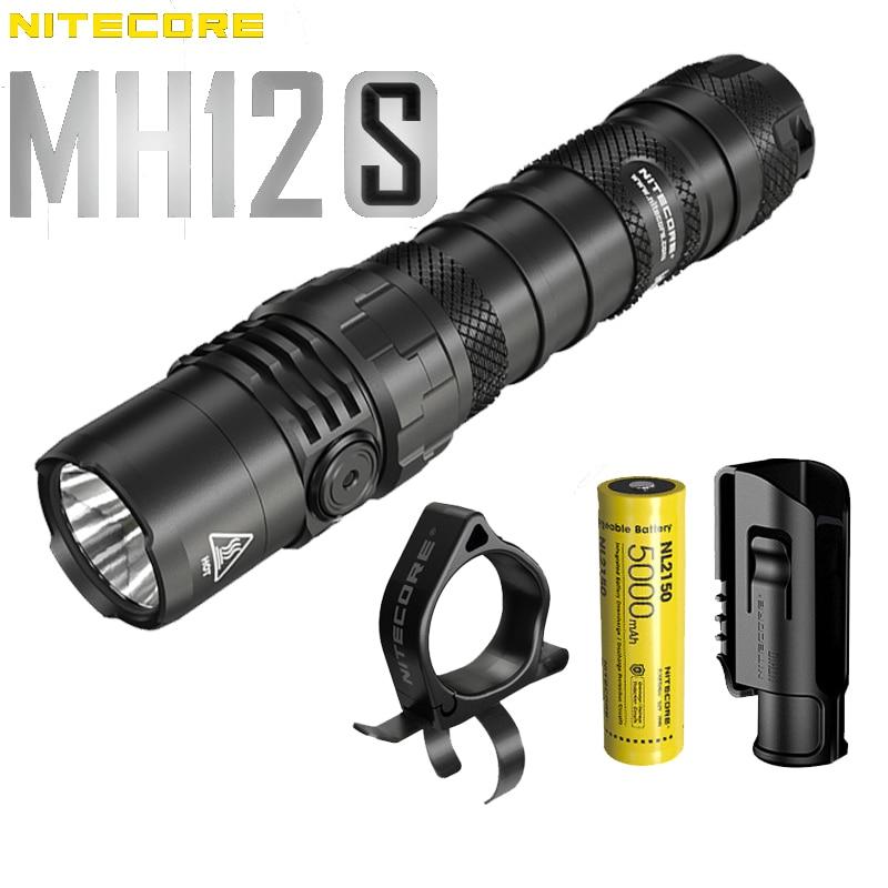 NITECORE MH12S lampe de poche avec 21700 batterie au lithium 1800 lumens