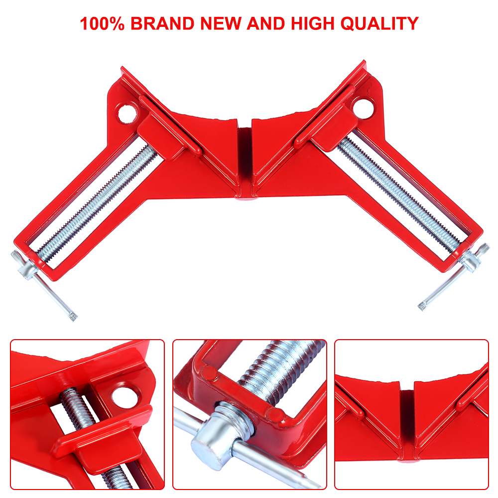 Right Angle Clip 2018 New Quick Fixed Woodworking Tool Multifunction 90 Degree Picture Frame Corner Clamp Fishtank DIY Holder in Clamps from Home Improvement