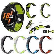 Спортивный силиконовый ремешок с отверстием для часов huawei GT2 46 мм, ремешок для умных часов, сменный ремешок для мужчин и женщин, браслет для мужчин 19Sep