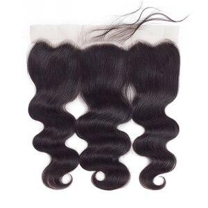 Image 3 - Gabrielle 13x4 Lace Frontal Closure 100% naturelle brésilienne Cheveux Remy, Body Wave, couleur naturelle, 13x4, 8 20 pouces cheveux humains Lace Frontal