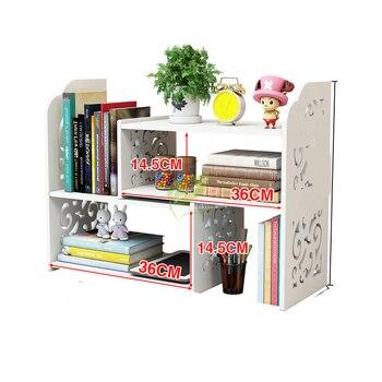 Creative Computer Desk Bookshelf Telescopic Desktop Bookcase Children's Simple Rack Small Office Storage Rack