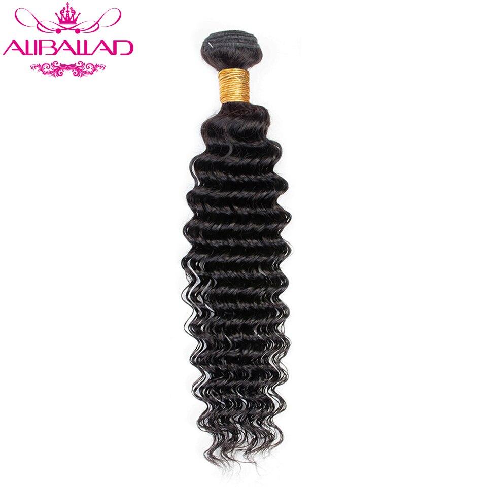 Deep Wave Bundles Brazilian Hair Weave Natural Color Hair Weaving 8 To 28 Inches Non-Remy Human Hair Extensions Aliballad Hair