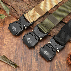 Image 3 - FRALU Tactical belt Military high quality Nylon mens training belt metal multifunctional buckle outdoor sports hook new
