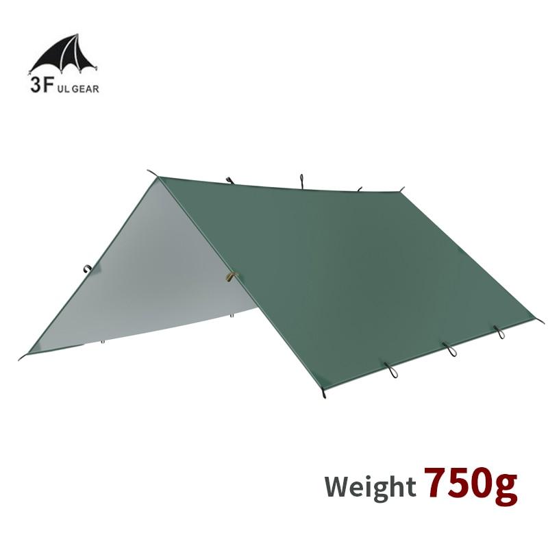 3F UL GETRIEBE Camping Hängematte Im Freien Ultraleicht Tarp 210T Silber Beschichtung Sun Shelter 3 Größen Wasserdicht Regen Shelter Picknick zelt
