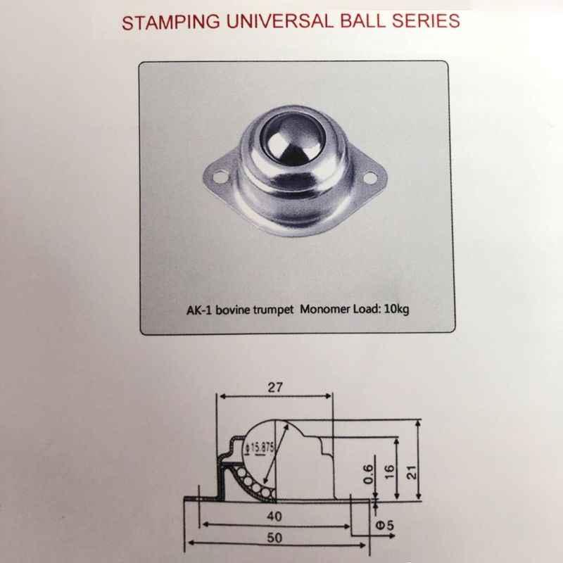 الأسطوانة الكرة نقل تحمل عالمي عجلة المسمار شنت كرة مستديرة عجلة الثور 77UC بالجملة دروبشيبينغ