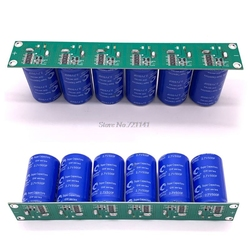 Super Farad Capacitor 16V 83F 6PCS 2.7V 500F Flat Angle Electrolytic Capacitor with Protection Board Single Row Ultracapacitor