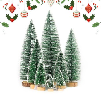 5pcs Mini Christmas Tree Fake Pine Trees DIY Colorful Xmas Photo Prop for Christmas Party Table Decoration New Year Home Decor image