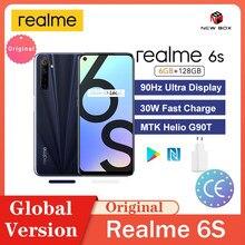 Realme 6s 90Hz عرض 6GB 128GB الهاتف الذكي 48MP كاميرات Qual 4300mAh 30 واط شحن سريع Cep telefonu هاتف محمول سريع الشحن