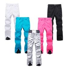 Серебристые мужские и женские зимние брюки профессиональные брюки для сноубординга водонепроницаемые ветрозащитные дышащие зимние спортивные лыжные брюки