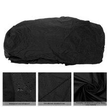 Черный чехол для снегохода, полиэфирное водонепроницаемое покрытие 368*130*121 см, покрытие для автомобильных лыж, снегохода, саней, аксессуары для украшения автомобиля