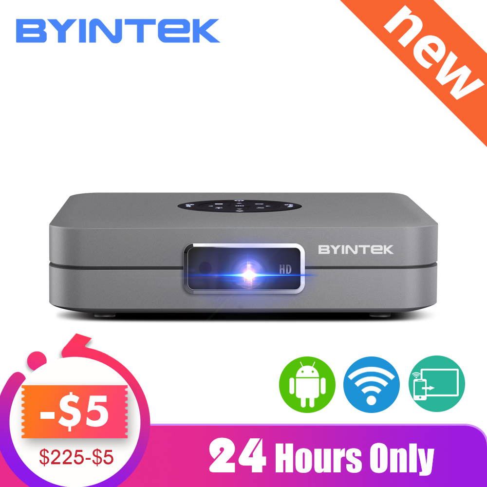 BYINTEK UFO U20 Pro Android Smart Wifi Portable Mini LED DLP Projector For IPhone IPad Smartphone 300inch Home Theater