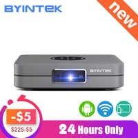 BYINTEK UFO U20 Pro Android inteligentne wifi przenośny Mini LED projektor dlp dla IPhone IPad Smartphone 300 cal kina domowego