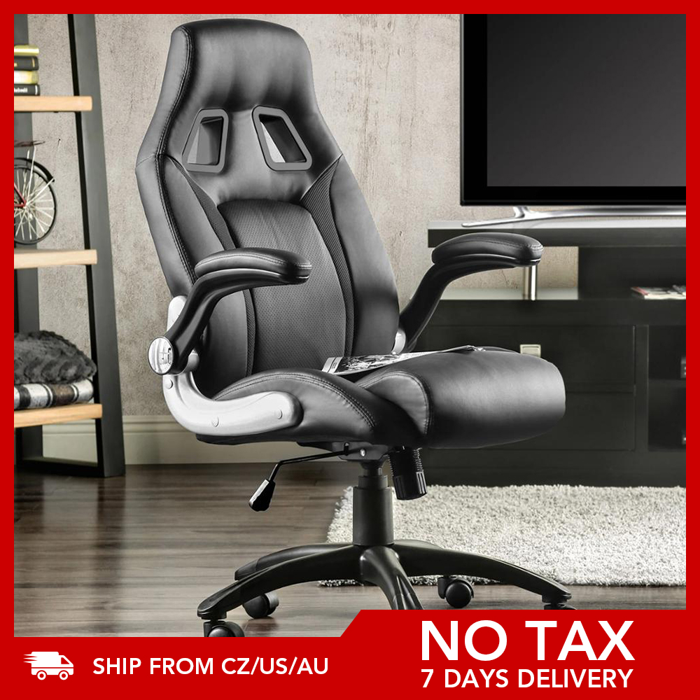 Furgle Gaming Chair Office Chair Swivel Chair Height-Adjustable Gaming Chair PC Chair Ergonomic Executive Chair with Armrests 1