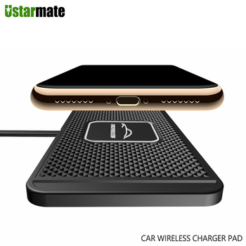 Car Qi Wireless Charger Silicone Pad Cradle Stand Dock 10W for Samsung S20 S10 Wireless Fast Charging for iPhone 11 Pro Xs Max 8