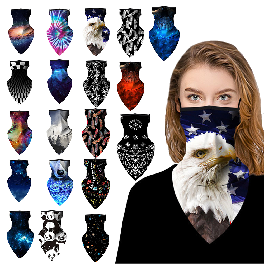 1PC Printing Style Multi-function Magic Scarf Half Face Mask Neck Cover Scarf Anti-UV Cycling Bandana Outdoor Sports Headwear(China)