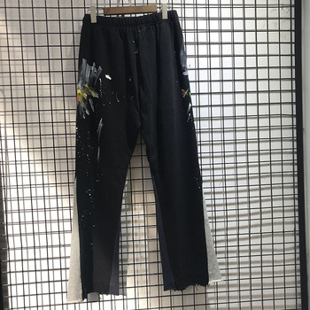 Manual Splash Ink Gallery Dept Pure Cotton Plus Velvet Sweatpants  High Quality Drawstring Joggers Trousers
