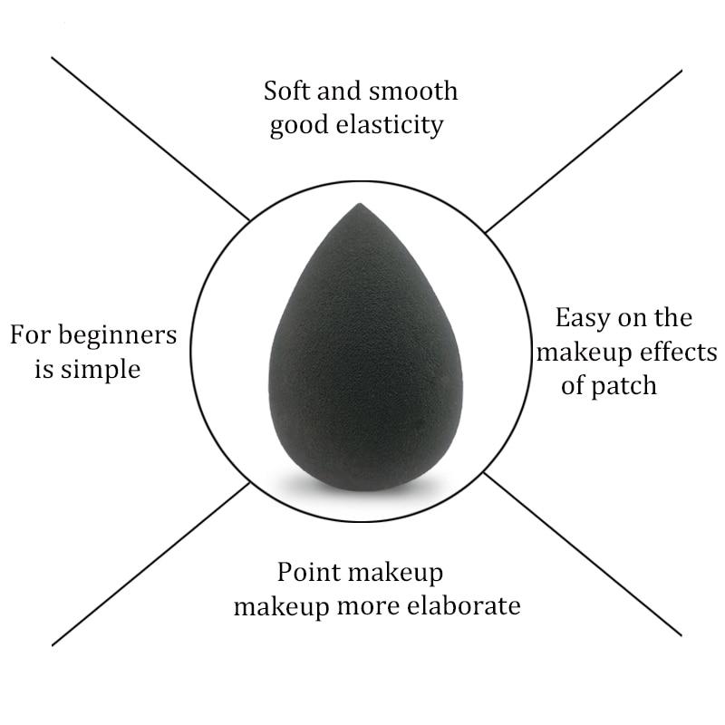 Hcf84d118edaf42efb440efe58cbc52bd6 Black Makeup Applicator Super Soft Sponge Powder Blender Smooth Foundation Contour Blending Puff