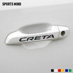 Наклейка на автомобиль для Hyundai Creta Ix25, 4 шт., аксессуары для стайлинга автомобиля, стикер на ручки двери автомобиля
