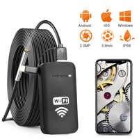 Neueste 3,9 MM 2.0MP wifi Endoskop Kamera IP67 Wasserdichte 720P HD Schlange Inspektion Kamera für Android und iOS Smartphone, tablet