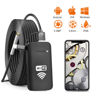 Image 1 - Newest 3.9MM 2.0MP wifi Endoscope Camera  IP67 Waterproof 720P HD Inspection Snake Camera for Android and iOS Smartphone, Tablet