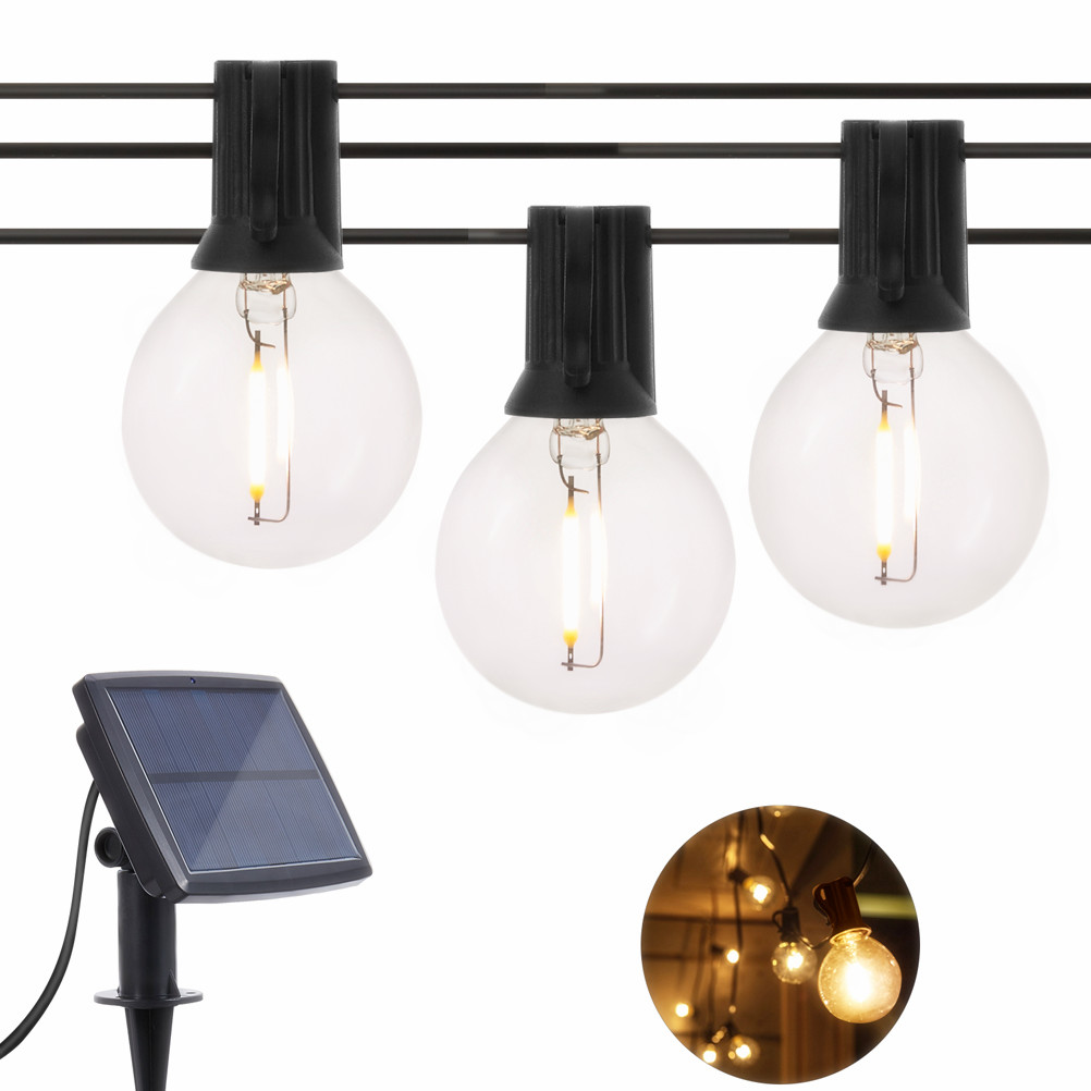 5M/7M Light String Garland Edison Bulb G40 Fairy LED Glass String Lights Waterproof Retro For Outdoor Indoor Lighting