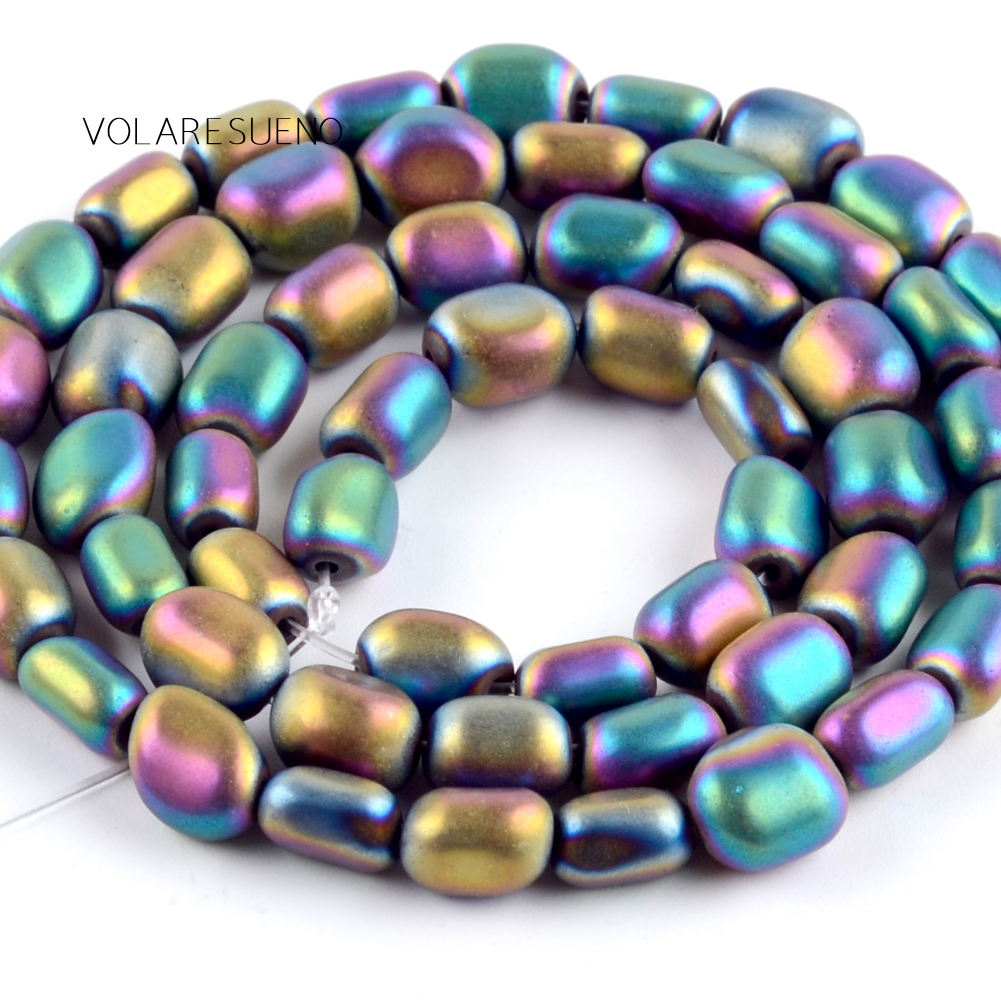 Natural Matte Irregular Multicolor Hematite Stone Round Loose Beads For Jewelry Making 5-8mm Spacer Fit Diy Bracelet 15''