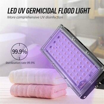 UV Sterilizer,Germicidal Disinfection Sterilizer,110V/220V 50W Sterilization Light,Ultraviolet Light Sterilizer Led Bulb Lamp