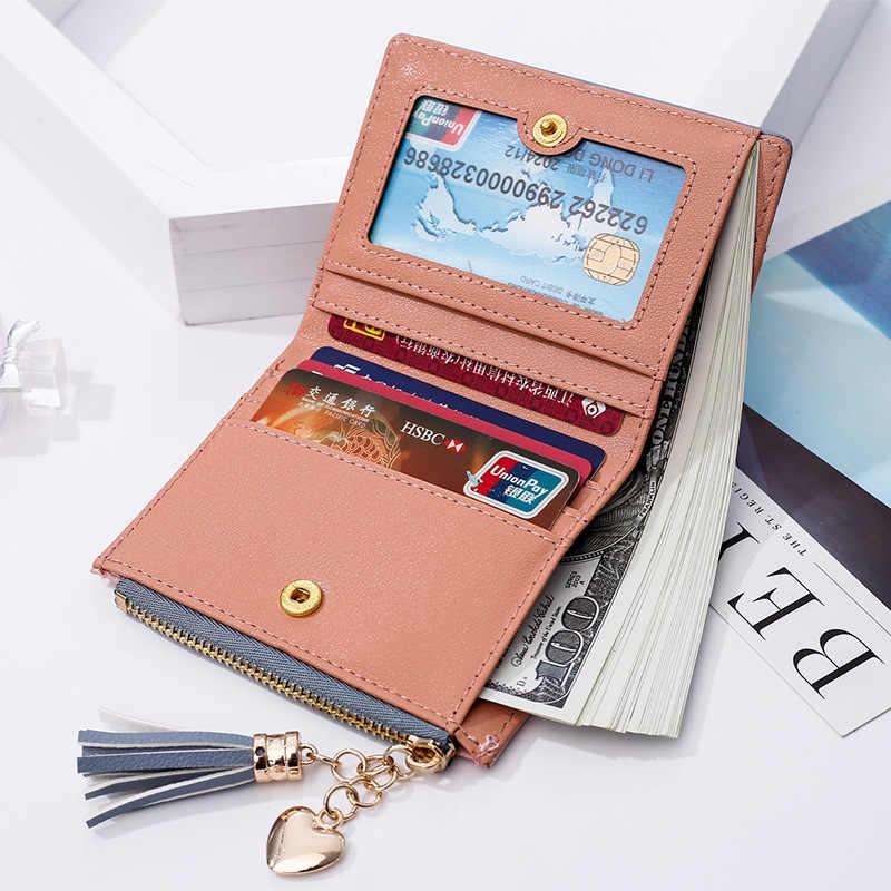 Nowe luksusowe krótkie portfele skórzane damskie mała torebka portmonetka na monety na zamek panie etui na karty kredytowe portfel dla kobiety