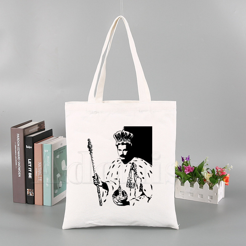 FREDDIE MERCURY Heavy Rock Band The Queen New Arrives Art Canvas Bag Totes Simple Print Shopping Bags Girls Life Casual Pacakge