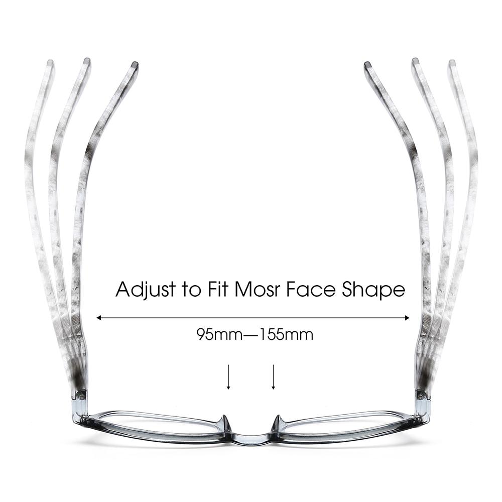 JM donna uomo occhiali da lettura con cerniera a molla lente d'ingrandimento retrò occhiali da lettura presbiti diottrie 2
