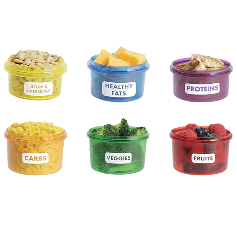 7Pcs/Set Food Storage Box with Lid Portion Control Colorful Containers Fruit Vegetable Storage|Lunch Boxes| |  - title=
