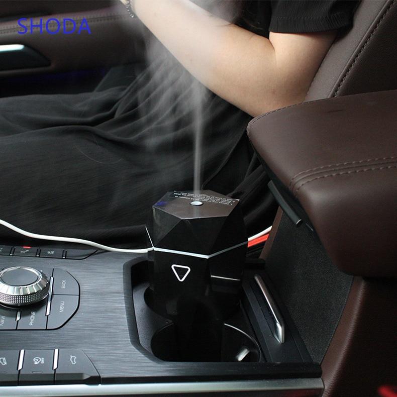 SHODA araba hava difüzörü uçucu yağ Aroma buhar makinesi araba parfüm USB taşınabilir otomatik Mist Maker sisleyici difüzör
