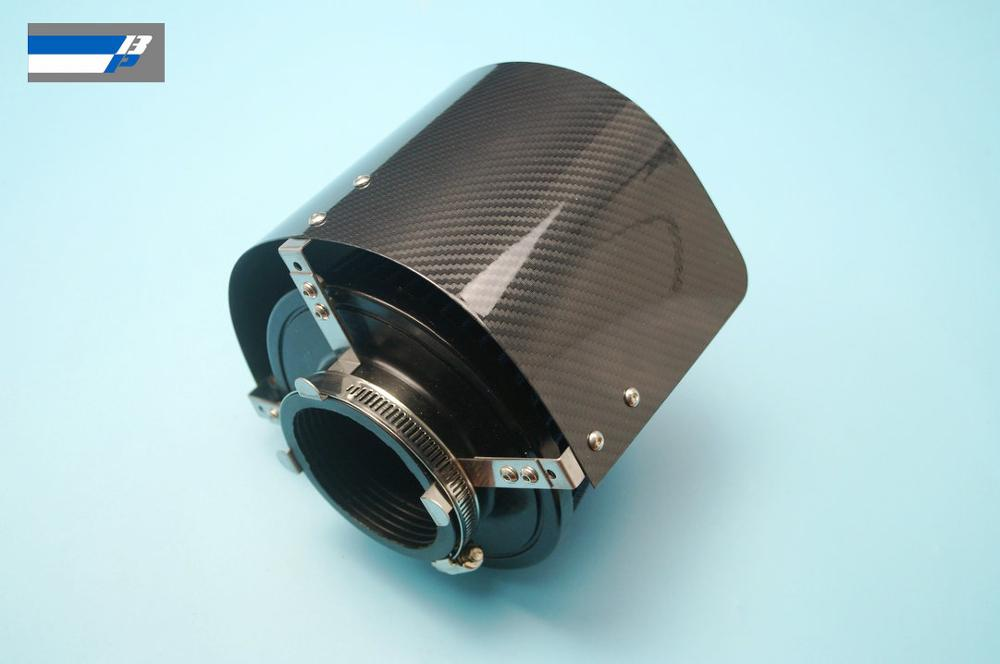 """Carbon fiber Coating Air Filter Heat Shield For 2.25/"""" TO 3.5/"""" Cone Filter"""