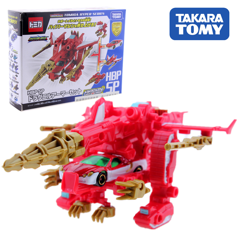 Takara Tomy Tomica Action Figure Transformation Deformation Dinosaur Armored Vehicle Speed Rescue Kids Gifts Doll Toys