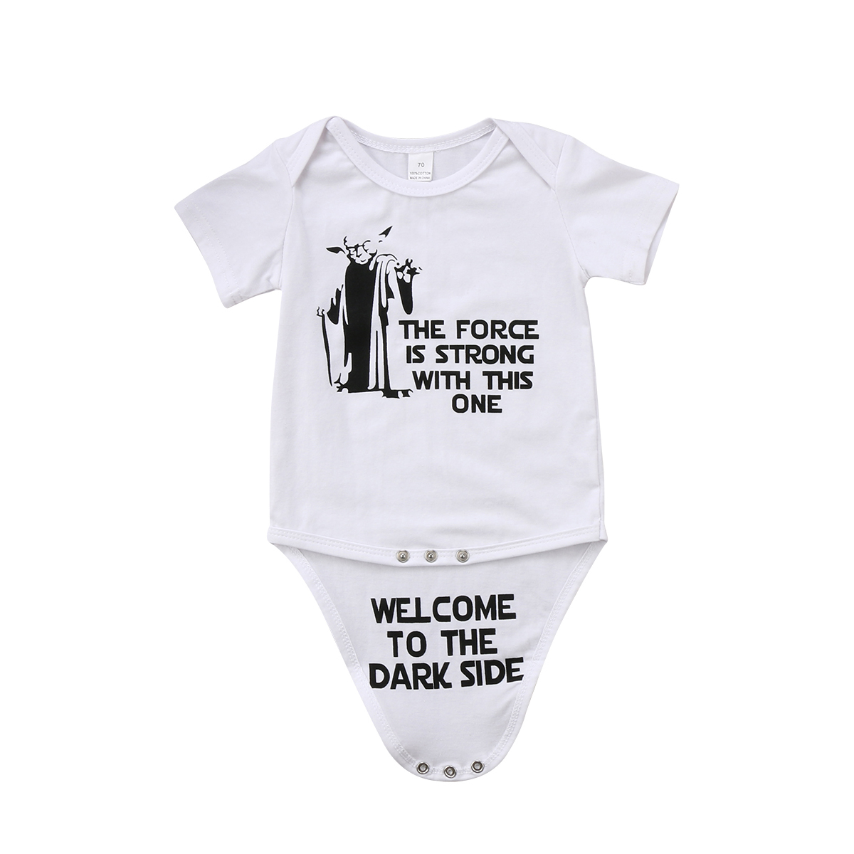 Pudcoco 0-18M Star War Newborn Kid Baby Boy Girl Funny Romper Jumpsuit Summer Clothes Outfits