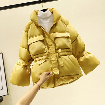 Women winter jackets parkas 2020 Fashion Thick warm Lantern sleeve tops jackets Slim solid sweet jackets for female 1