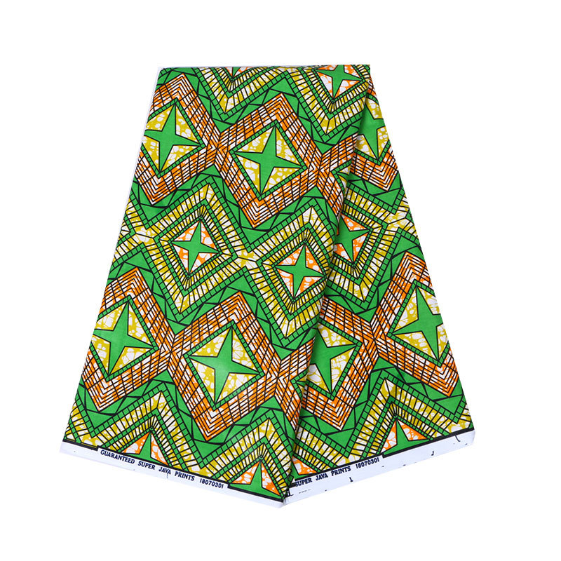 100% Cotton Green Print Fabric African Nigeria Anraka Real Dutch Wax African Fabric