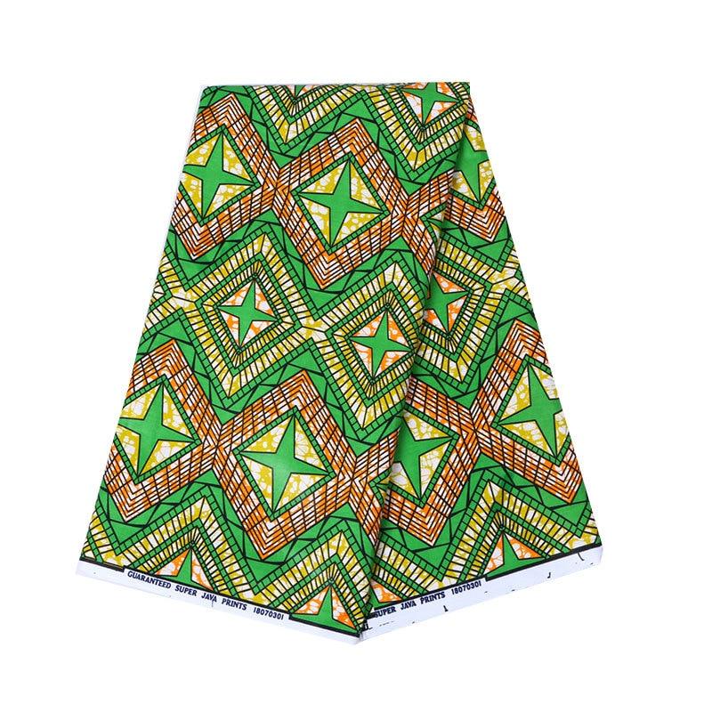 100% Cotton Green Print Fabric African Nigeria Anraka Real Dutch Wax African Fabric