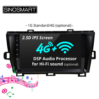Second Car GPS Navigation Radio for Toyota Prius multimedia system Android 2009 2010 2011 2.5D IPS/QLED Screen image