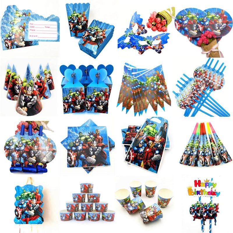 10 детских принадлежностей для вечеринки в честь Дня Рождения, одноразовая посуда, украшение для фестиваля, подарки для мальчиков
