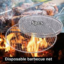 5 Pz/set Rotonda Usa E Getta Barbecue Griglia A Cremagliera Arrosto Netto Griglia Barbecue Vaschetta di Cottura(China)