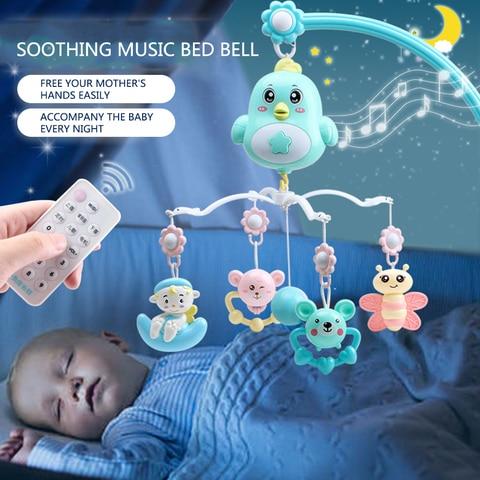 bebe berco moveis chocalhos musica brinquedos educativos cama sino carrossel para bercos projecao infantil brinquedo