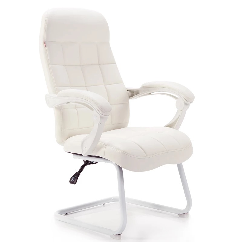 Home Computer Chair Office Chair Boss Chair Stool White Bow Reclining Gaming Chair Back Study Chair