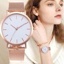 Montres femmes or Rose Simple mode montre-Bracelet de luxe dames montre Bracelet Reloj Mujer horloge Relogio
