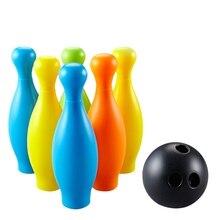 6 штифтов 1 с изящными бубонами для спортивные игрушечный шар для боулинга красочный набор для детей