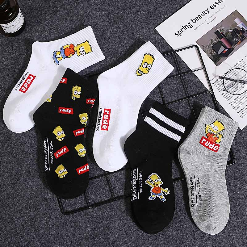 2020 Stereoscopic Cartoon Middle Tube Socks Men Women Anime Printing Cotton Sock Fashion Casual Breathable Hosiery