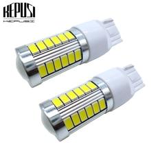 2pcs T20 W21/5W 7443 7440 W21W 5630 33SMD WY21W LED For Turn Signal Lights Tail Lights Brake Lights Car Tail Bulb 12V White цены