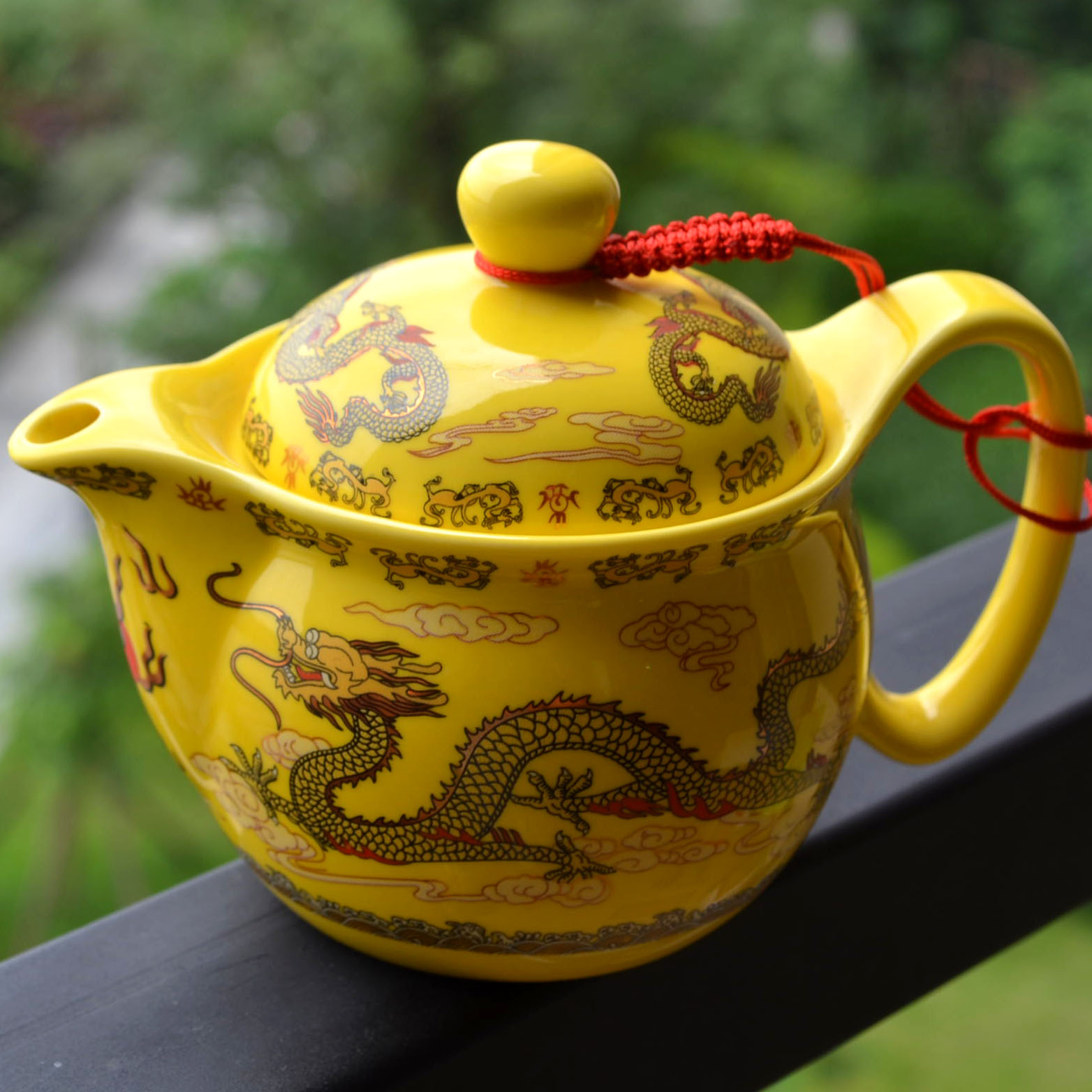 Teapot 410ml porcelain Chinese dragons pot stainless steel strainer infusion Flowers tea puer kettle ceramic teaware Home office